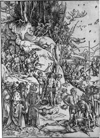 Reprodukcja The Martyrdom of the Ten Thousand, Albrecht Durer