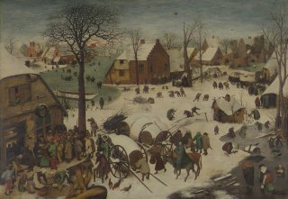 Reprodukcja The Numbering at Bethlehem, Pieter Bruegel