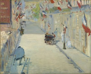 Reprodukcja The Rue Mosnier with Flags, Edouard Manet