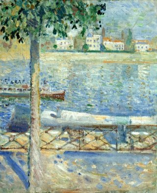 Reprodukcja The Seine at Saint-Cloud, Edvard Munch