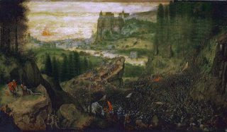 Reprodukcja The Suicide of Saul, Pieter Bruegel