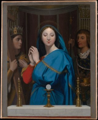 Reprodukcja The Virgin Adoring the Host. Measures, Jean Auguste Dominique Ingres