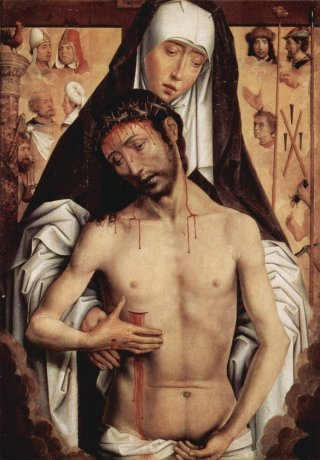 Reprodukcja The Virgin Showing the Man of Sorrows, Hans Memling