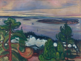 Reprodukcja Train Smoke, Edvard Munch