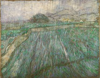 Reprodukcja Wheat Field in Rain, Vincent van Gogh