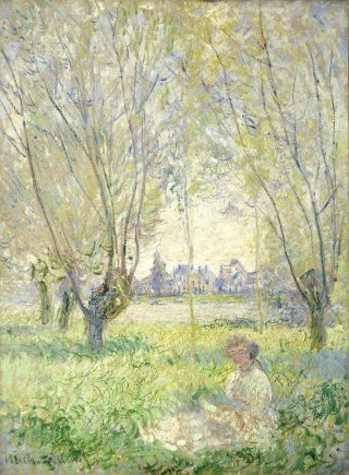 Reprodukcja Woman Seated under the Willows, Claude Monet