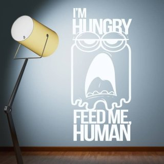szablon malarski 02X 01 i am hungry feed me human 1911
