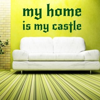 szablon malarski 02X 17 my home is my castle 1726