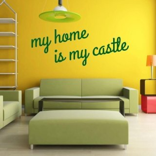 szablon malarski 02X 19 my home is my castle 1721