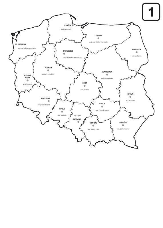Tablica Suchoscieralna Mapa Polski Z Podzialem Na Wojewodztwa 238