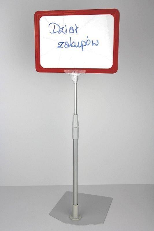 DWUSTRONNA tabliczka suchościeralna w ramce na nóżce teleskopowej